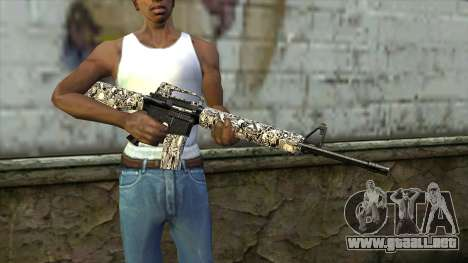 Nuevo Rifle De Asalto para GTA San Andreas tercera pantalla