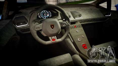 Lamborghini Huracan LP610-4 2015 Sharpie para GTA 4 vista interior