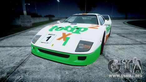 Ferrari F40 1987 [EPM] Jolly Club para GTA 4