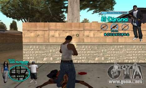 C-HUD Aztec El Corona para GTA San Andreas tercera pantalla