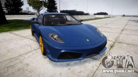 Ferrari F430 Scuderia 2007 plate Scuderia para GTA 4