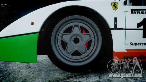 Ferrari F40 1987 [EPM] Jolly Club para GTA 4 vista hacia atrás