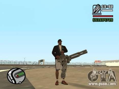 Doble propiedad de todas las armas para GTA San Andreas sucesivamente de pantalla