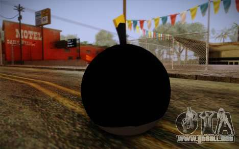 Black Bird from Angry Birds para GTA San Andreas segunda pantalla