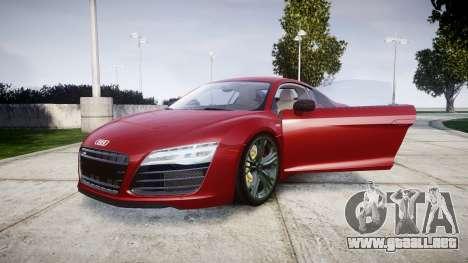 Audi R8 V10 Plus 2014 para GTA 4