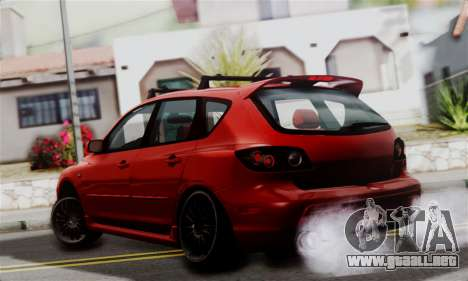 Mazda 3 MPS para GTA San Andreas left