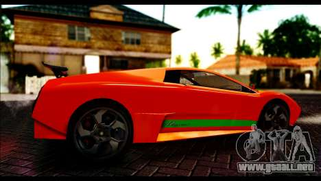 GTA 5 Pegassi Infernus [HQLM] para GTA San Andreas vista posterior izquierda