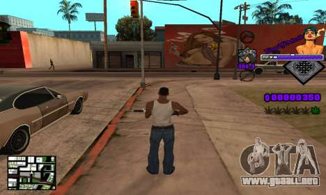 C-HUD King Of Detroit para GTA San Andreas quinta pantalla