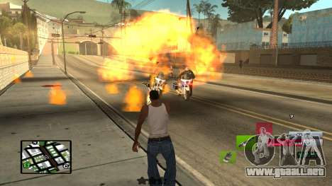 C-HUD by SampHack v.19 para GTA San Andreas tercera pantalla