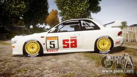 Subaru Impreza WRC 1998 v4.0 SA Competio para GTA 4 left
