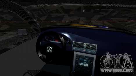 Volkswagen Golf MK4 para GTA San Andreas vista posterior izquierda