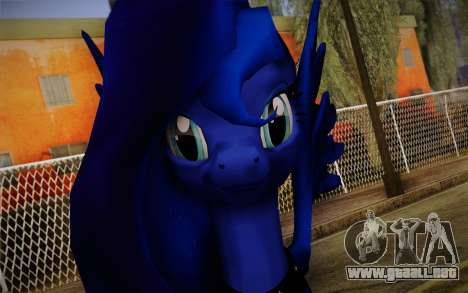 Princess Luna from My Little Pony para GTA San Andreas tercera pantalla