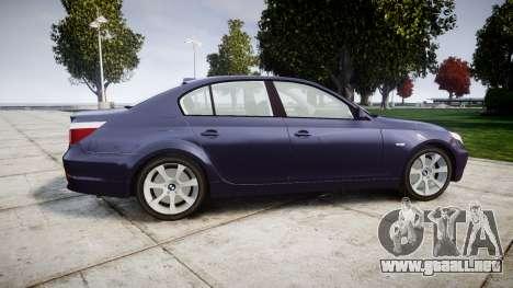 BMW 525d E60 2009 para GTA 4 left