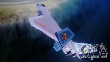 Chenyang J-20 Air Force BF4 para GTA San Andreas vista posterior izquierda