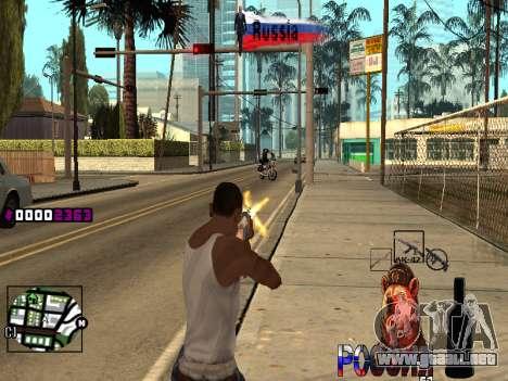 C-HUD RussiA para GTA San Andreas sucesivamente de pantalla
