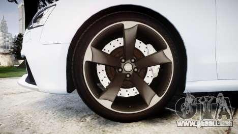 Audi RS5 2012 v2.0 para GTA 4 vista hacia atrás