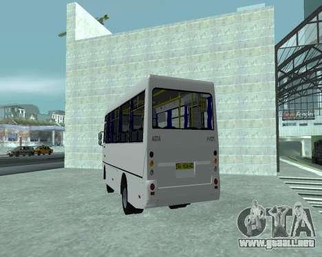 I-Van A07A para GTA San Andreas vista posterior izquierda