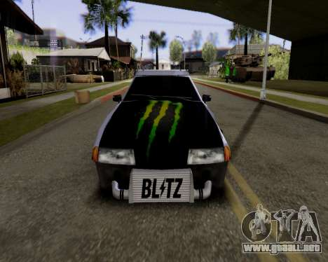 Elegy v2.0 para GTA San Andreas vista posterior izquierda