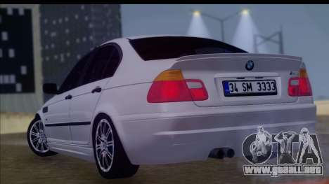 BMW M3 E46 Sedan para GTA San Andreas left