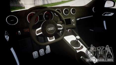 Audi TT RS 2010 para GTA 4 vista interior