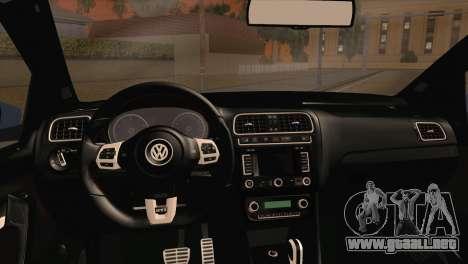 Volkswagen Polo GTi 2014 para GTA San Andreas vista posterior izquierda