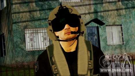Russian Helicopter Pilot from Battlefield 4 para GTA San Andreas tercera pantalla
