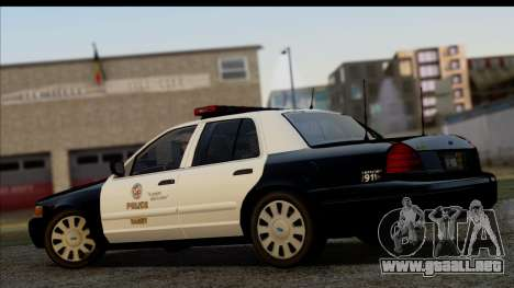 LAPD Ford Crown Victoria Whelen Lightbar para GTA San Andreas left