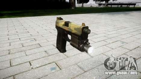 La pistola HK USP 45 flora para GTA 4