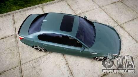 BMW M5 E60 v2.0 Stock rims para GTA 4 visión correcta