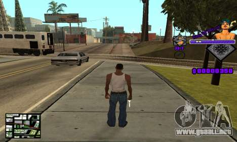 C-HUD King Of Detroit para GTA San Andreas segunda pantalla