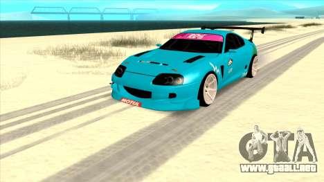 Toyota Supra Blue Lightning para GTA San Andreas