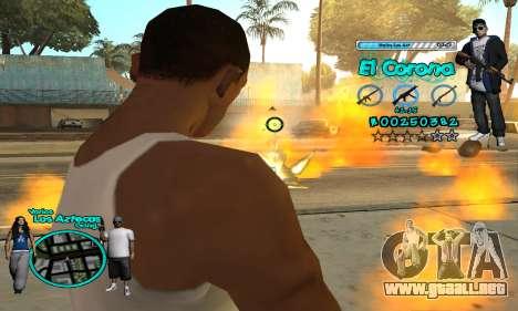 C-HUD Aztec El Corona para GTA San Andreas quinta pantalla