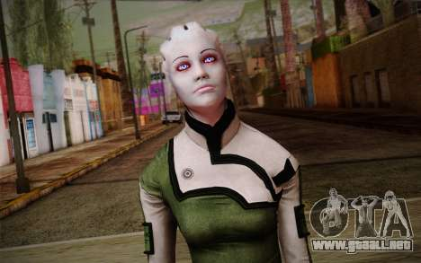 Liara T Soni Scientist Suit from Mass Effect para GTA San Andreas tercera pantalla