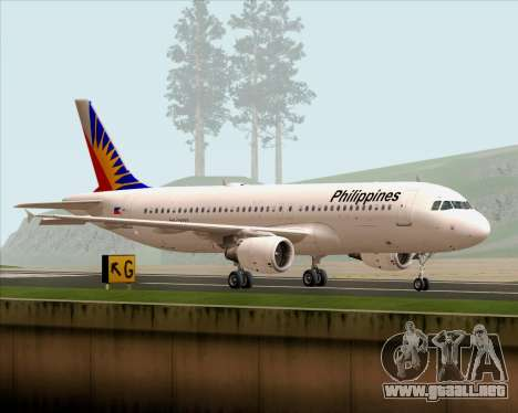 Airbus A320-200 Philippines Airlines para GTA San Andreas left