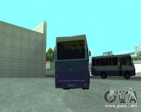 BASES de datos de UN Turista para GTA San Andreas vista posterior izquierda