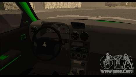 Kia Pride 141 para GTA San Andreas vista posterior izquierda