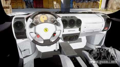 Ferrari F430 Scuderia 2007 Sharpie para GTA 4 vista interior