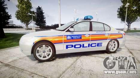 BMW 525d E60 2009 Police [ELS] para GTA 4 left