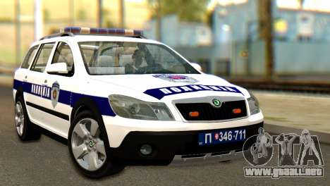 Skoda Octavia Scout Police para GTA San Andreas