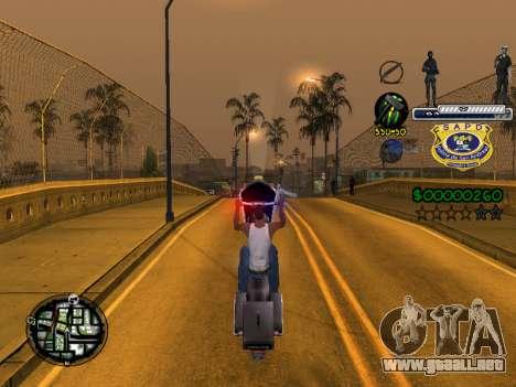 C-HUD Police S.A.P.D para GTA San Andreas quinta pantalla
