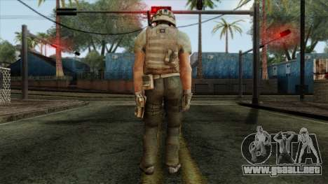 Modern Warfare 2 Skin 13 para GTA San Andreas segunda pantalla