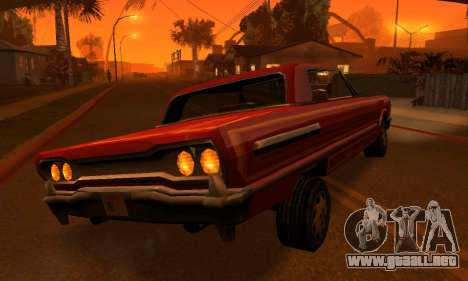 Beta Savanna para GTA San Andreas interior