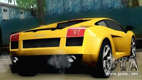 Lamborghini Gallardo 2005 para GTA San Andreas left
