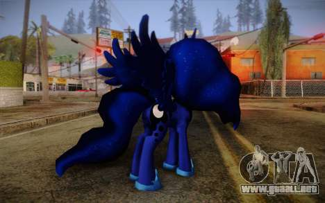 Princess Luna from My Little Pony para GTA San Andreas segunda pantalla
