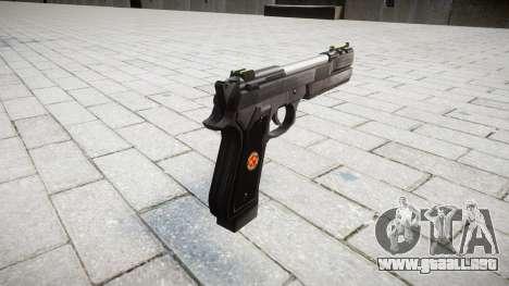 Пистолет Beretta M92 Samurai Edge S.T.A.R.S. para GTA 4 segundos de pantalla