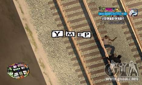 C-HUD Color para GTA San Andreas sucesivamente de pantalla