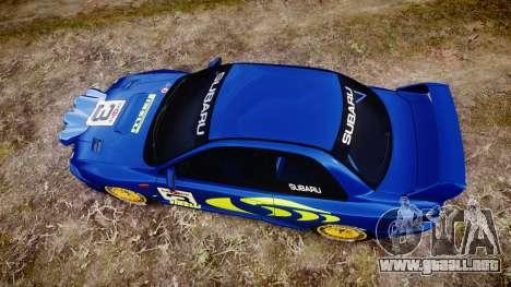 Subaru Impreza WRC 1998 v4.0 World Rally para GTA 4 visión correcta