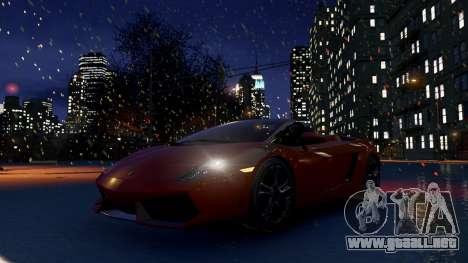 Snow IV para GTA 4 adelante de pantalla