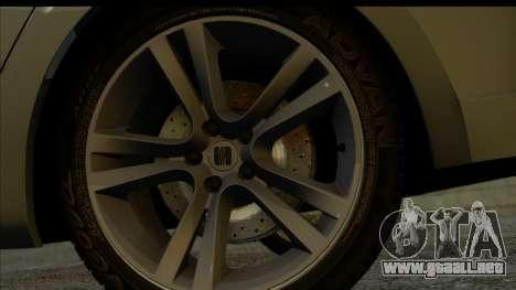 Seat Leon Fr 2013 para GTA San Andreas vista posterior izquierda