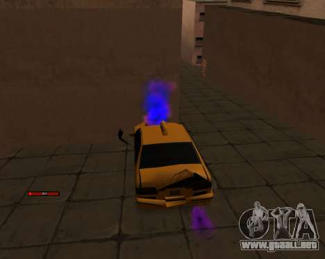 Indicador de HP coche para GTA San Andreas tercera pantalla